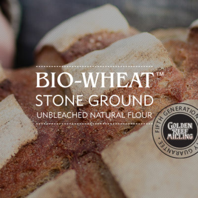 BIO-WHEAT Stone Ground Unbleached Natural Flours