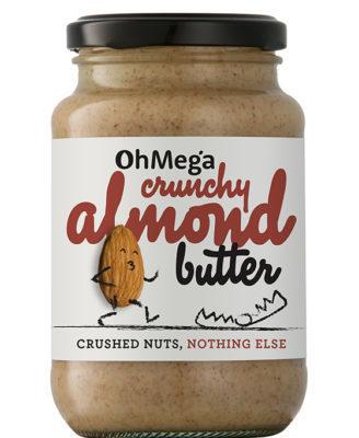 Oh Mega Crunchy Almond Butter – 400g